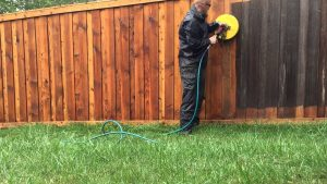 Professional fence cleaning by Clear As Day Pressure Washing 630-361-5011