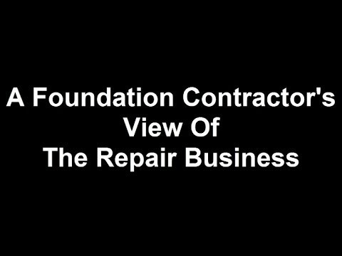 Contractors For Foundation Repair - How To Find the Best Deal